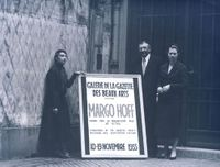 Publicity shot, Wildenstein Gallery, Faubourg St. Honore